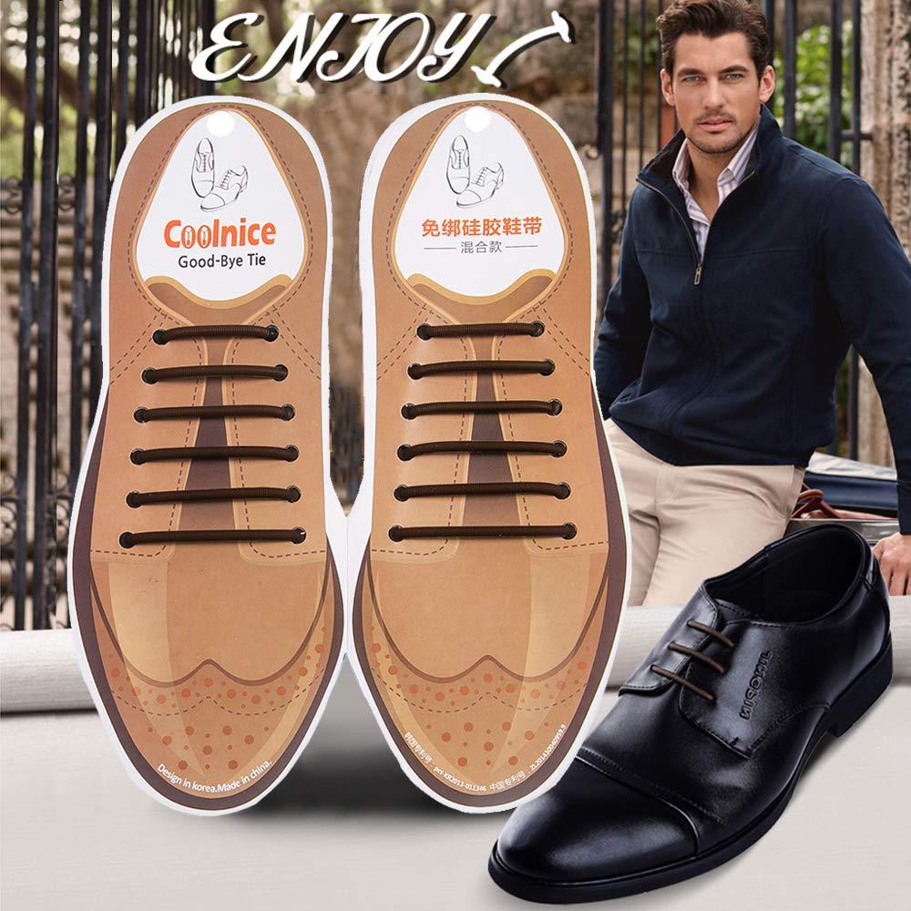 dbfa7153882a5b Amazon.com  Elastic No Tie Shoe Laces for Business Men and Women ...