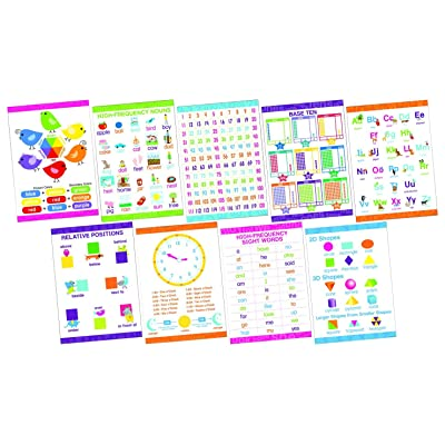 Barker Creek Early Learning Essentials Poster Set, Set of 9: Industrial & Scientific