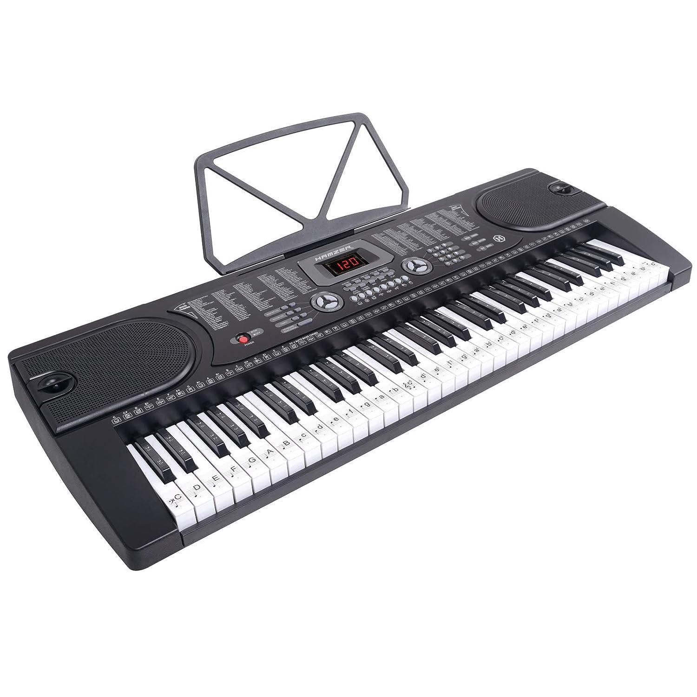 front facing Hamzer 61-Key Electronic Keyboard Piano