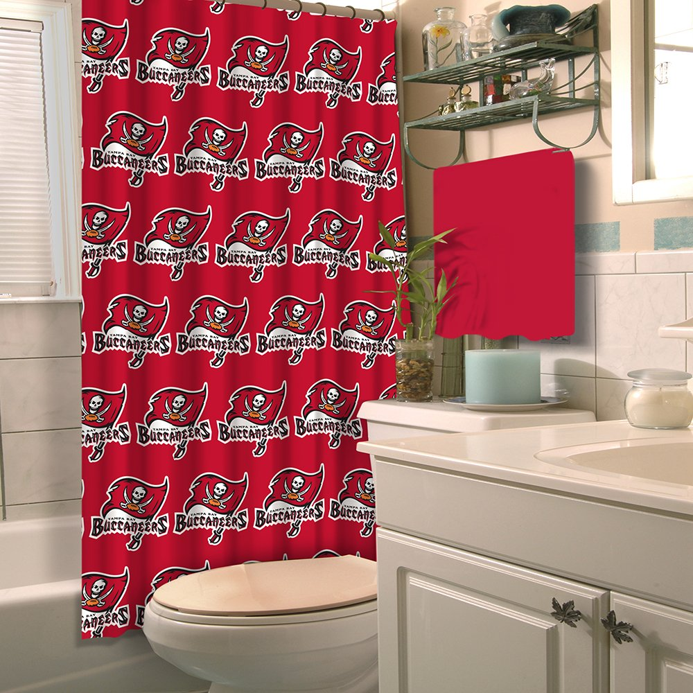 . Amazon com  NFL Tampa Bay Buccaneers Shower Curtain  Home   Kitchen