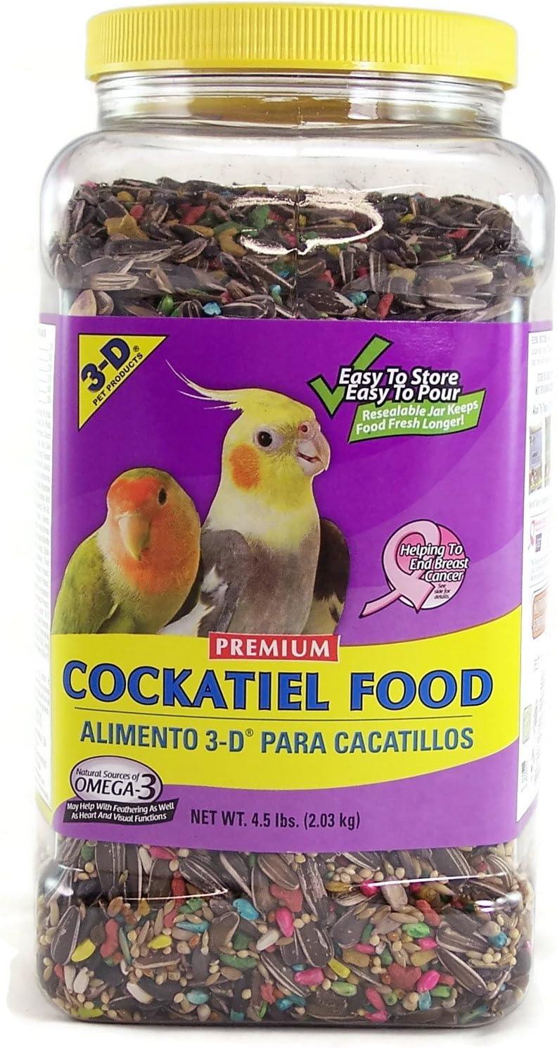 3-D 3D Cockatiel Bird Seed