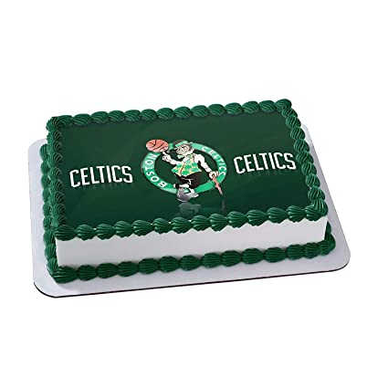 Amazon Boston Celtics Edible Cake Image Topper Icing Sugar Paper A4 Sheet Frosting Photo 1 4 Everything Else