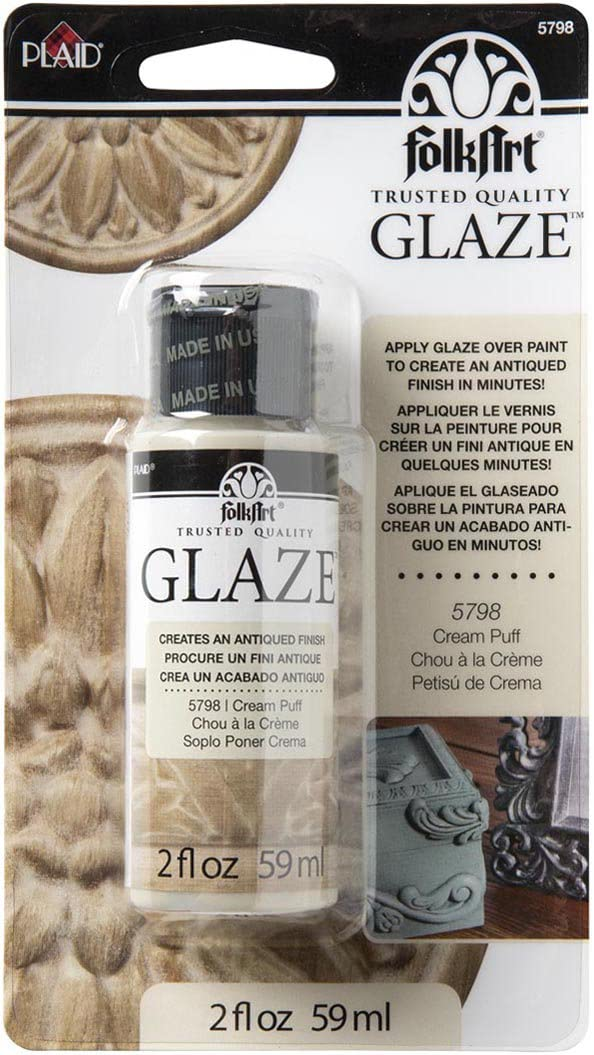 FolkArt Glaze Antique Finish (2 oz), 5798 Cream Puff