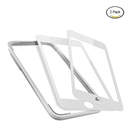 MIMODAY para iPhone 6S Cristal templado protector de pantalla completa borde a borde lámina vídrio transparente