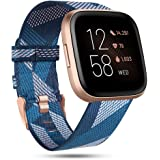 RIOROO Compatible with Fitbit Versa Bands/Versa 2/Versa Lite Strap for Women Men,Versa Accessories Breathable Woven…