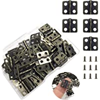 Pack De 50 Latonado Pin fijación Bisagras 15 X 9 Mm
