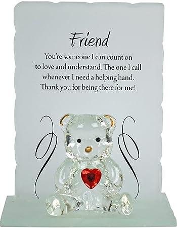 Bargains Galore Engraved Glass Crystal Bear Gift Set Poem Poetic
