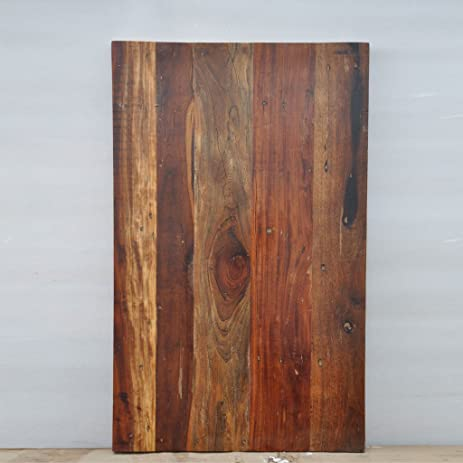 Amazoncom Antique Rustic Reclaimed Wood Table Top X X - Recycled wood table top