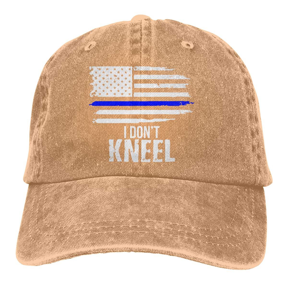 PMGM-C I Dont Kneel Unisex Personalize Cowboy Hat Outdoor Sports Hat Adjustable Baseball Cap