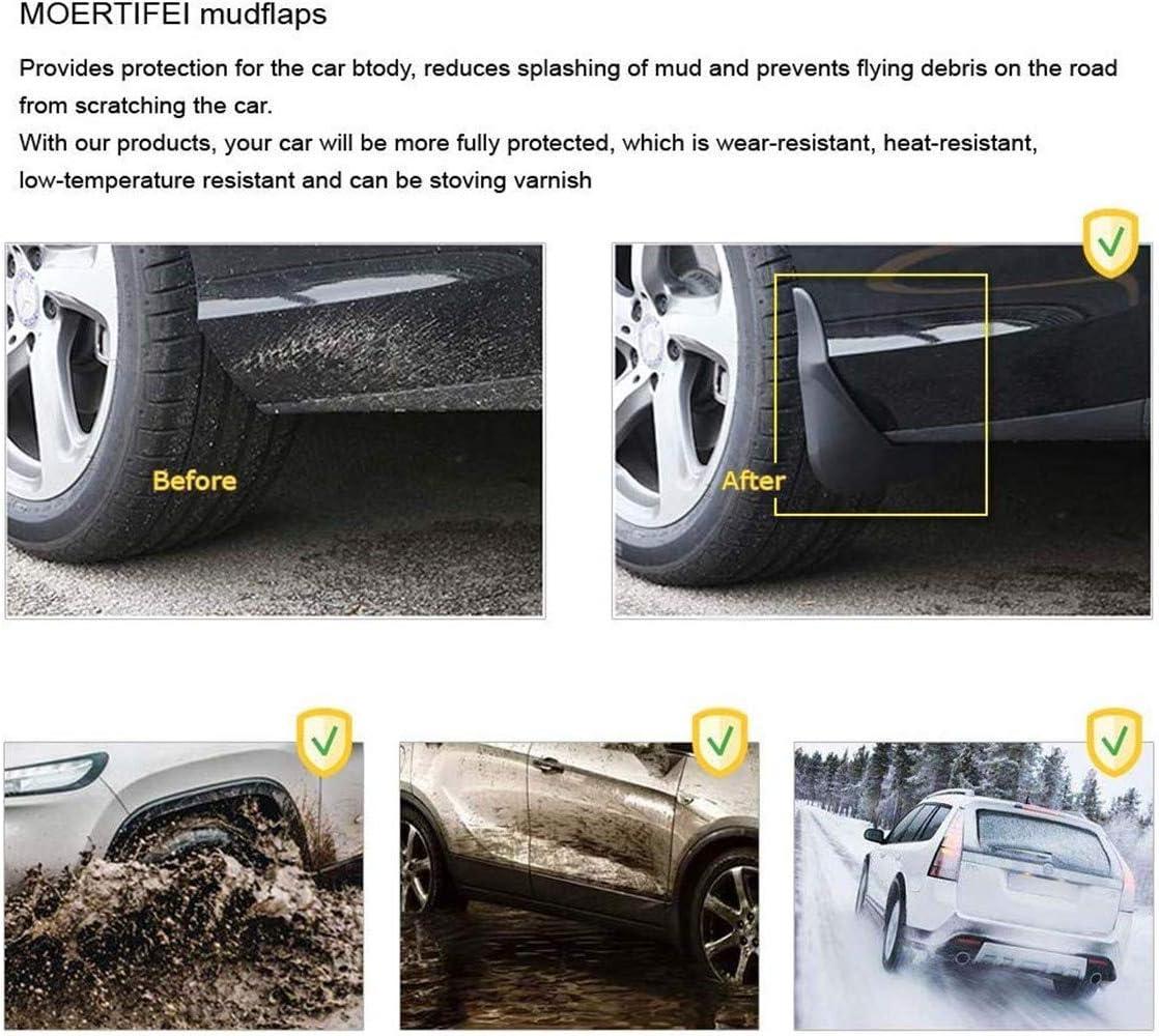 JUZZQ Mud Flaps Splash Guards Mudguards Protective Fender 4pcs ,For VW Tiguan R-Line L-phev 2017 2018 2019 2020 Premium Front /& Rear Set Moulded Full Protection Set Splash Mud Guards Black