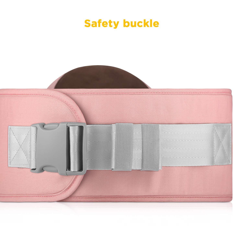 GAGAKU Baby Hip Seat Carrier Lightweight Baby Waist Carrier Pink