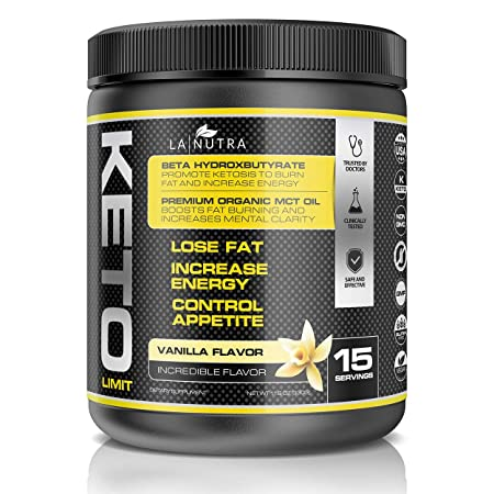 Keto Limit Vanilla Ketogenic Diet Supplement BHB Exogenous Ketones and MCT Oil Keto Powder to Burn Fat, Promote Mental Focus and Natural Energy. Achieve Ketosis w Our Non-GMO Keto Supplement