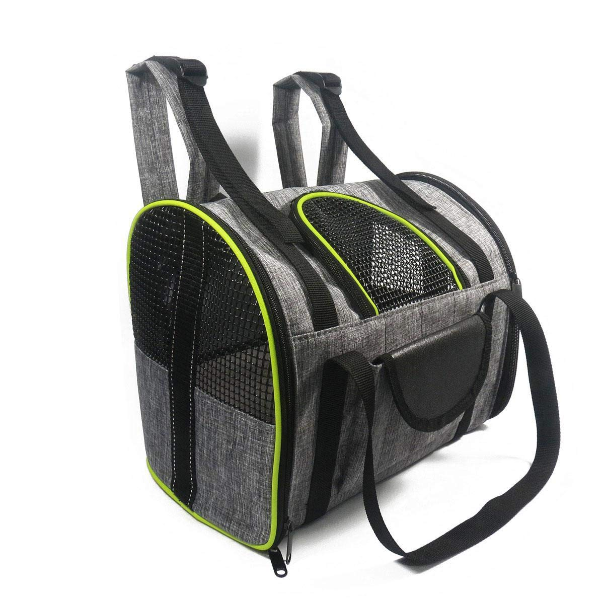 Airline Approved Pet Carrier, leegoal Portable Breathable Foldable Soft Travel Friendly Pet Carrier Bag Carry Your Pet with You Safely and Comfortably