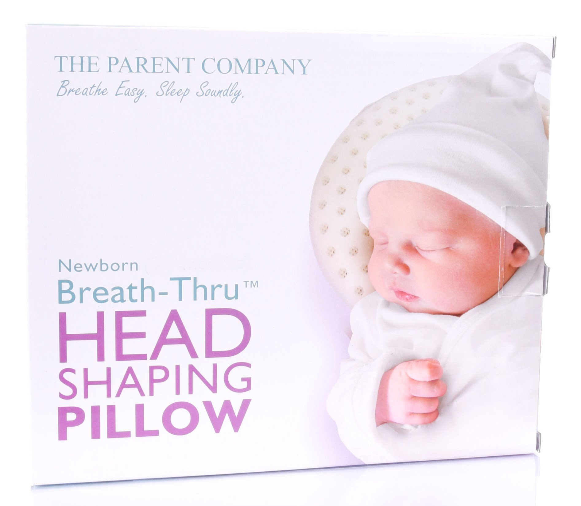 Newborn (Premie) Baby Head Shaping Pillow | Breathe-Thru Cushion for Head Support & Flat Head Syndrome (Positional Plagiocephaly) Prevention | 13-17 Inch Head Circumference