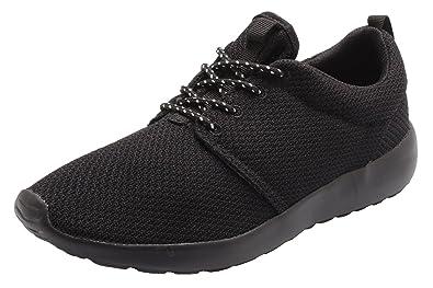 Santimon Women s Running Shoes Lightweight Floater Couple Sports Athletic  Sneaker Black 4.5 B(M) 36f99ae46