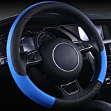 Wishlanlan Four Season Universal Anti-slip Breathable Leather Car Steering Wheel Cover (Purple)