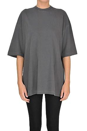 faf64137c0ae Amazon.com: Balenciaga Women's MCGLTPS000005023E Grey Cotton T-Shirt ...