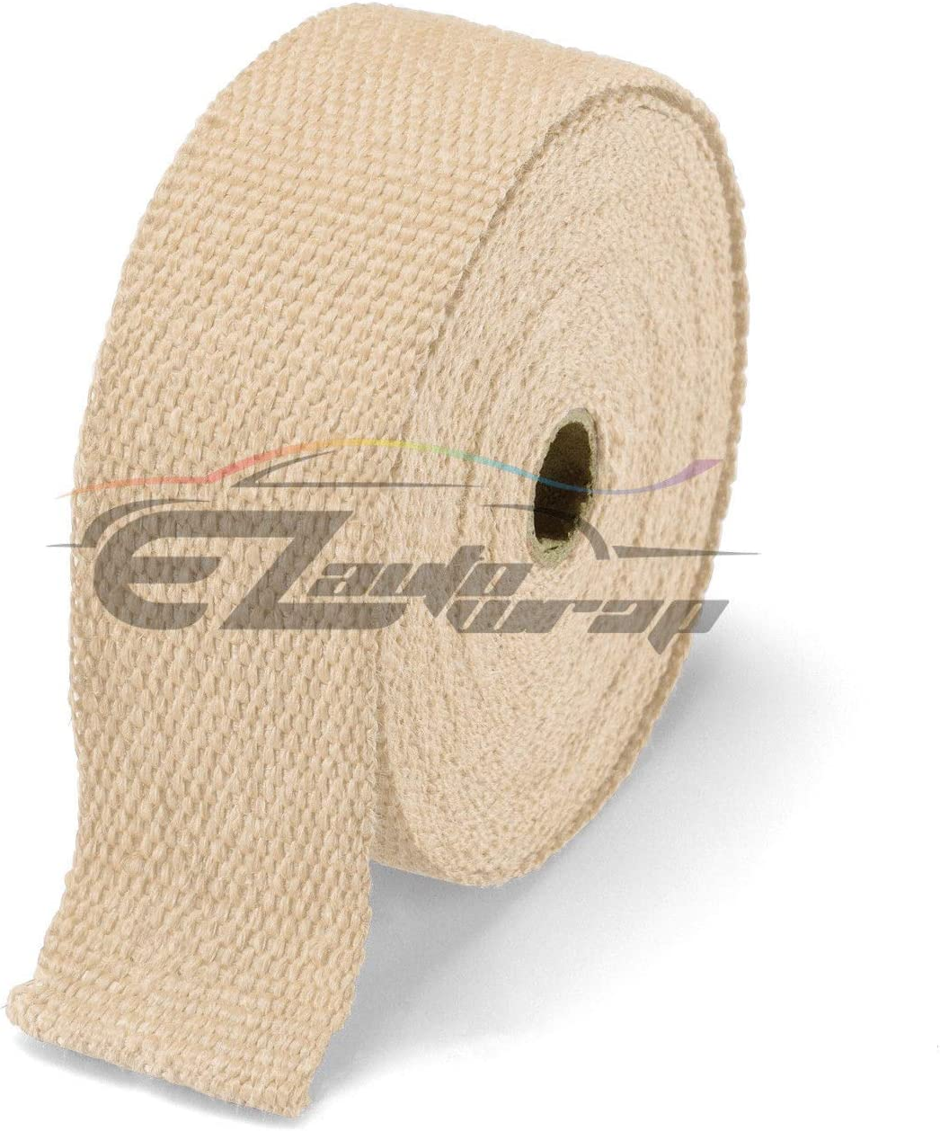 EZAUTOWRAP Black Exhaust Pipe Insulation Thermal Heat Wrap 2 x 50 Motorcycle Header Protection Fiberglass Heat Shield 6X Stainless Ties
