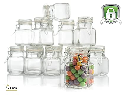 Stock Your Home 3 Oz Airtight Glass Jar With Leak Proof Rubber Gasket And  Hinged Lid