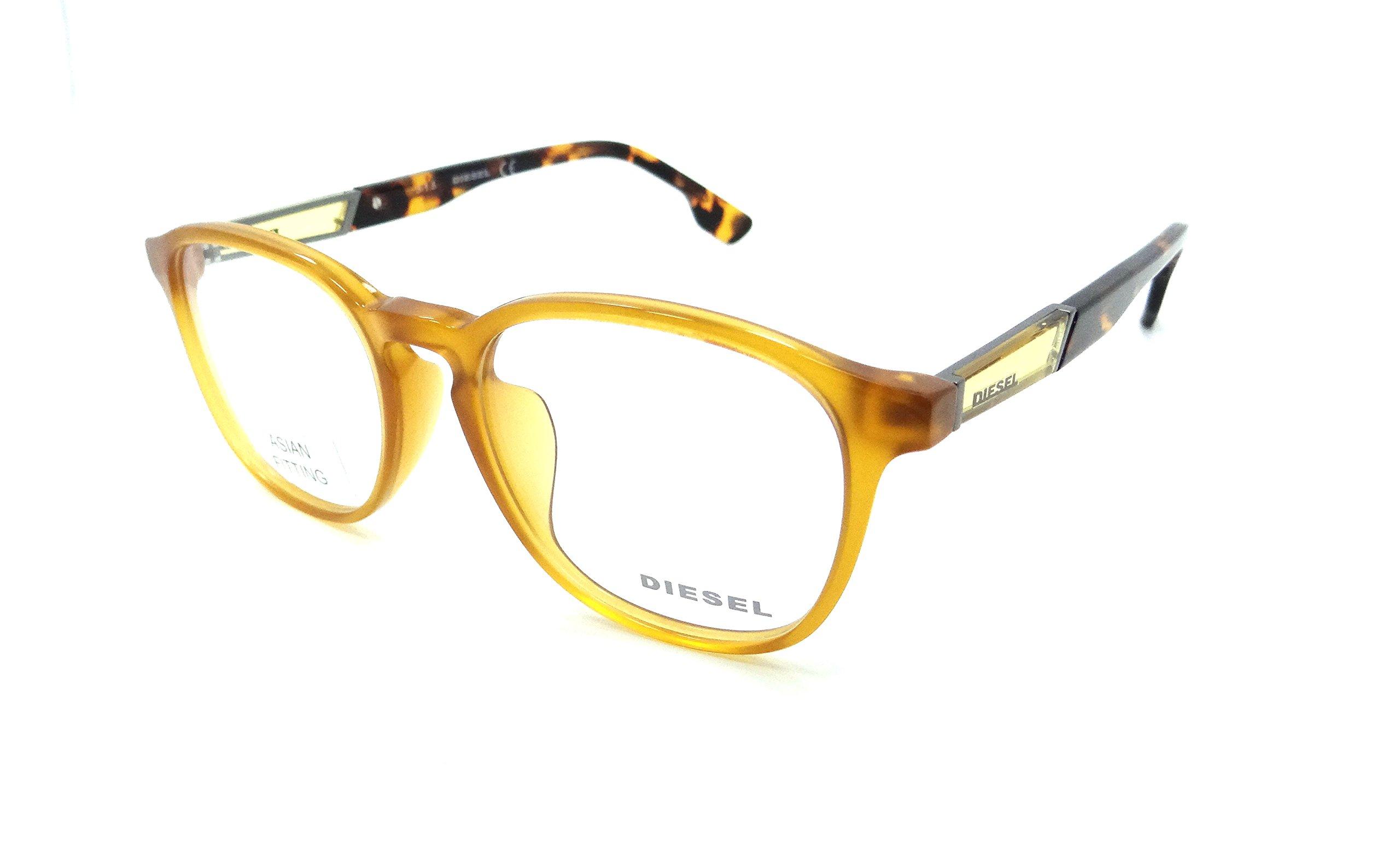 Diesel Rx Eyeglasses Frames DL5123-F 040 52-18-150 Yellow / Havana Asian Fit