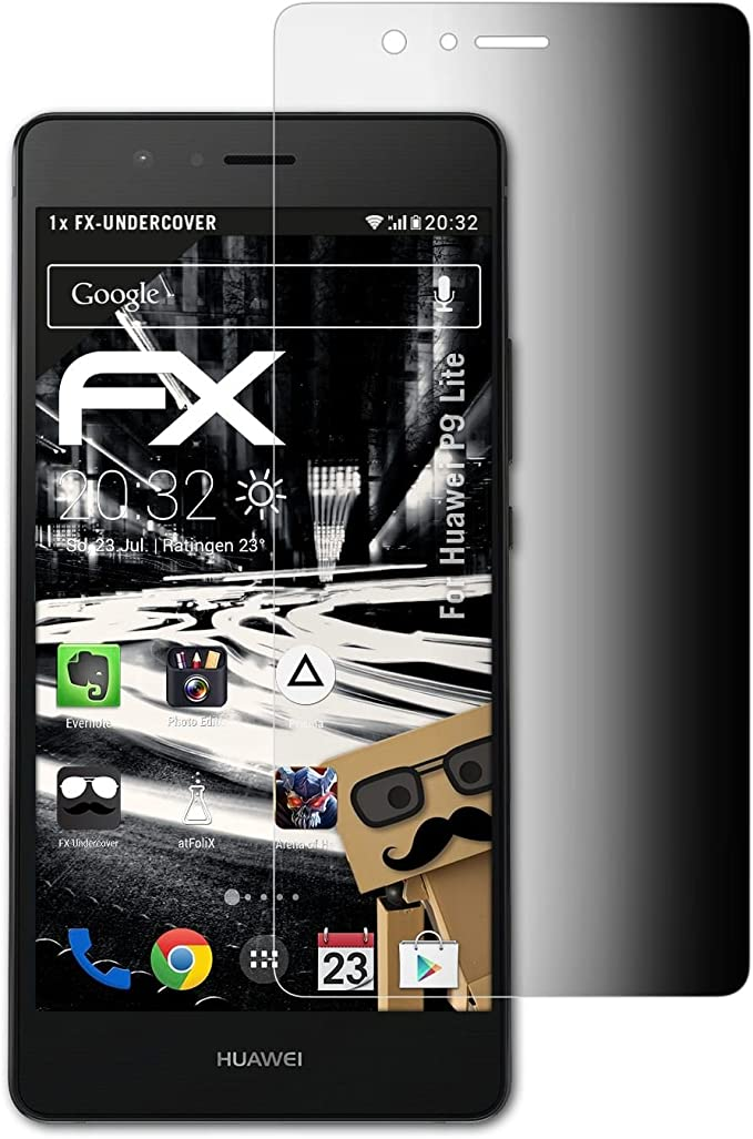 atFoliX Filtro de Privacidad Compatible con Huawei P9 Lite ...