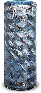 LUSUNT 12 Inch Decorative Vase, Flowers Vase for Home Decor, Modern Vase for Living Room, Office, Bedroom, Kitchen, Blue Vase for Dried Flowers and Decorative Branch Filler