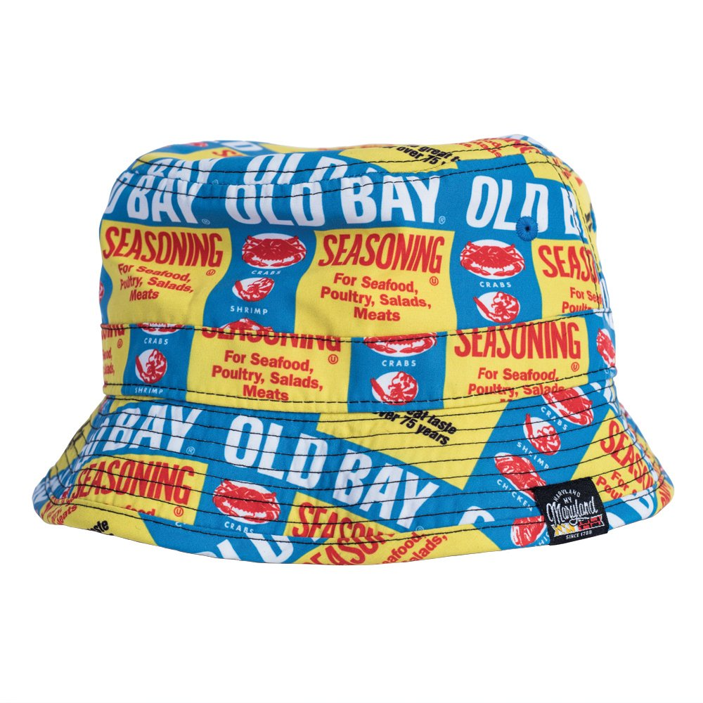 dff29fc2e Mojo Unisex Adult Old Bay Seafood Seasoning All Over Print Bucket Hat
