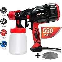 $36 » AOBEN Paint Sprayer, 550 Watt High Power HVLP Spray Gun, with 3 Spray Patterns, 4 Nozzle…