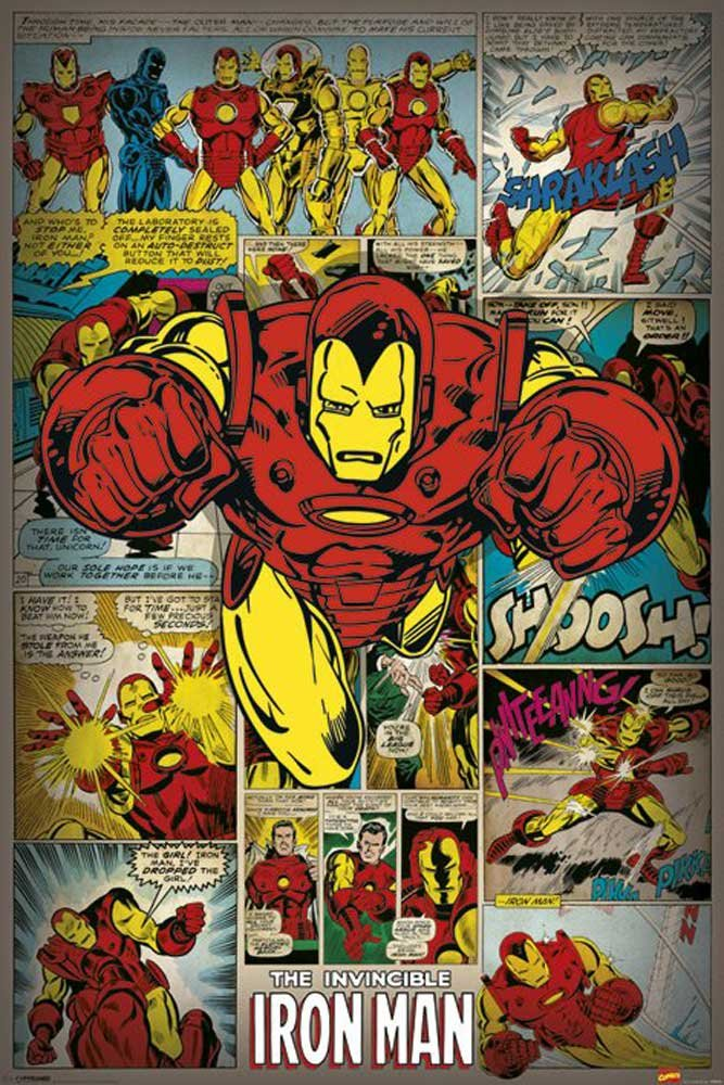 Amazon.de: empireposter - Marvel - Iron Man Retro - Größe (cm), ca ...
