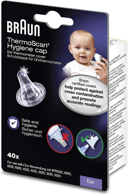 Neckip Ersatzschutzkappen f/ür Alle Braun ThermoScan-Modelle Ohrthermometer//Ohr Fieberthermometer und andere Arten von Einwegabdeckungen f/ür Digitale Thermometer 20 St/ück
