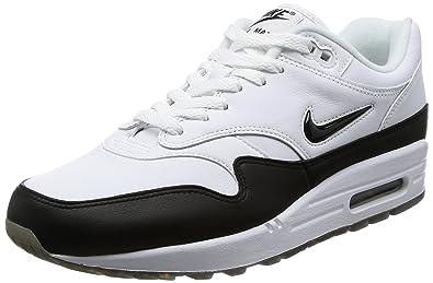 Nike Men's Air Max 1 Premium SC Jewel WhiteBlack Leather Size 9