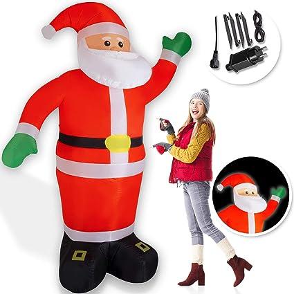 Weihnachtsmann Aufblasbarer Selbstaufblasbar Lebensgroß Weihnachten 240cm