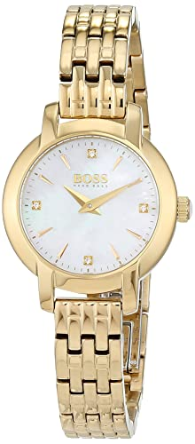 ebc46f7b8 Hugo Boss Ladies Success Women's Quartz Mother of Pearl Analogue Classic  Gold Stainless Steel Bracelet 1502381: Amazon.co.uk: Watches