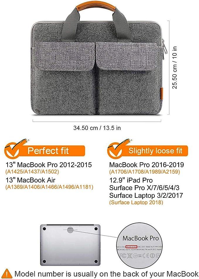 Hellgrau Ultrabook Laptoptasche Notebooktasche mit Karten-Slot MoKo Kompatibel mit Microsoft Surface Pro 6//Pro 5//Pro 4//Pro 3//Pro LTE 12.3//MacBook Air 11.6//iPad Pro 12.9 2018 Filz Sleeve H/ülle