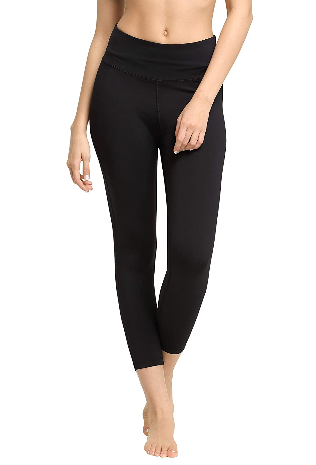 7dc71e3f7eeabe Amazon.com: CYZ Women's Space-Dyed Tummy Control Yoga Workout Leggings with Cell  Phone Pocket: Clothing