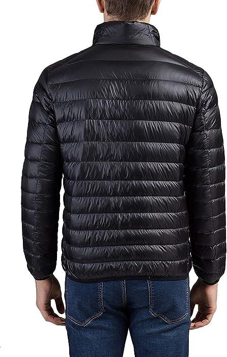 Mens Packable Down Jacket Lightweight Winter Puffer Coat