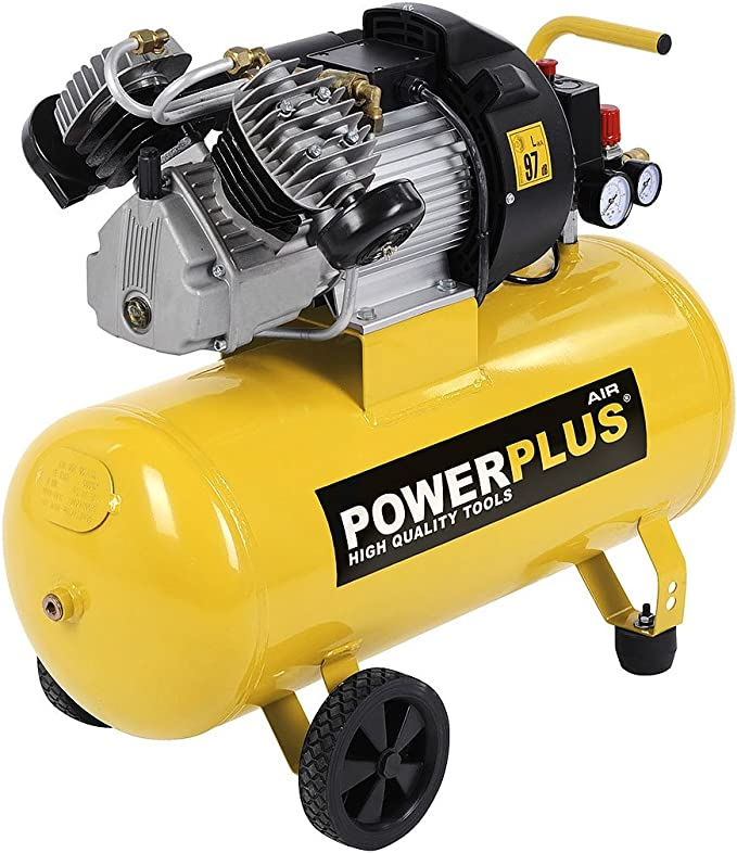 Druckluft Kompressor 2 200 Watt 3 Ps 50 Liter Tank Powx1770 Baumarkt