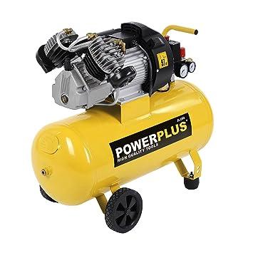 PowerPlus POWX1770 - Compresor 2200W 3Cv 50L Aceite: Amazon.es: Bricolaje y herramientas