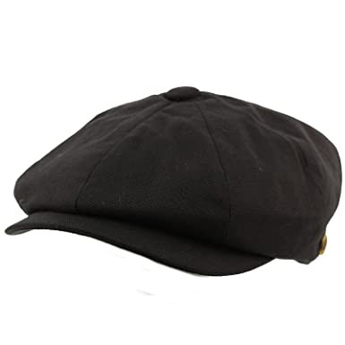 c54465903e8 SK Hat shop Men s 8 Panel Solid Plain 100% Cotton Snap Newsboy Drivers  Cabbie Cap