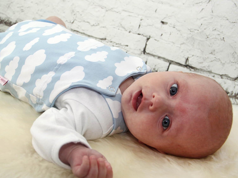 Kleine K/önige Baby Strampler Jungen Sommer Baby Body /· Modell Wolkenreich blau hellblau /· /Ökotex 100 zertifiziert /· Gr/ö/ße 50//56