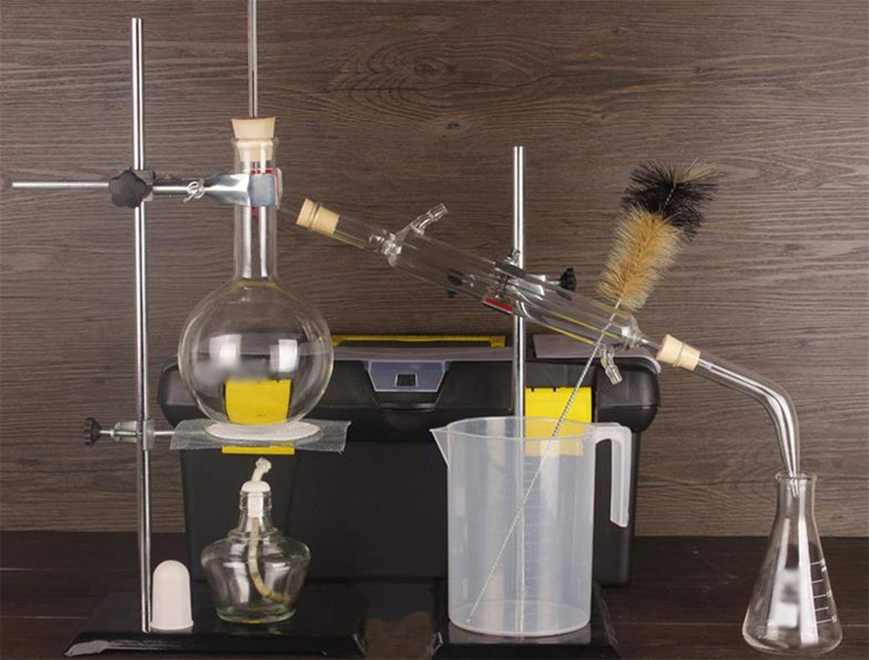 Wyyggnb Laboratory Equipment, Distillation Unit Distiller Glassware Purify Essential Oil to Produce Alcohol Distilled Water Filter by Wyyggnb
