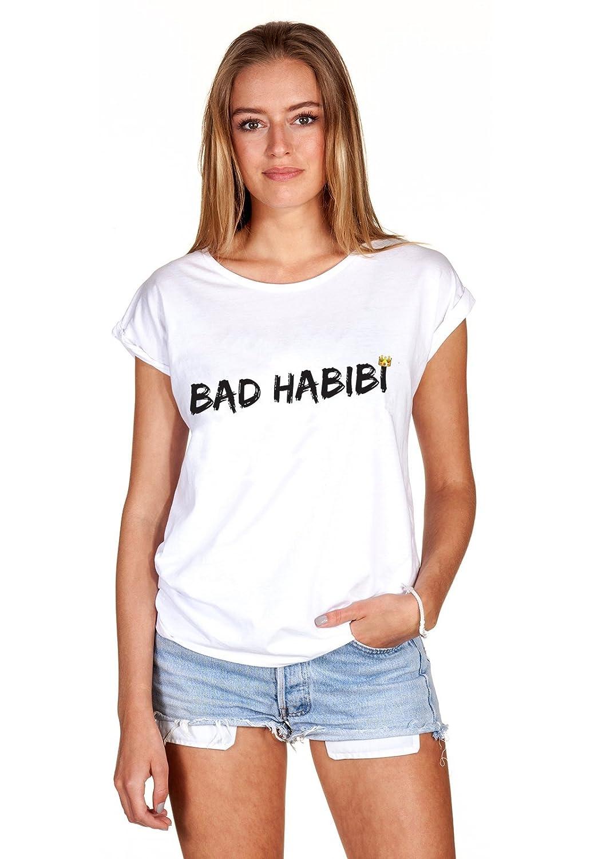 T-Shirt Oberteil Damen Girl Bad Habibi Habit Statement Print Aufdruck Böses  Mädchen: Amazon.de: Bekleidung