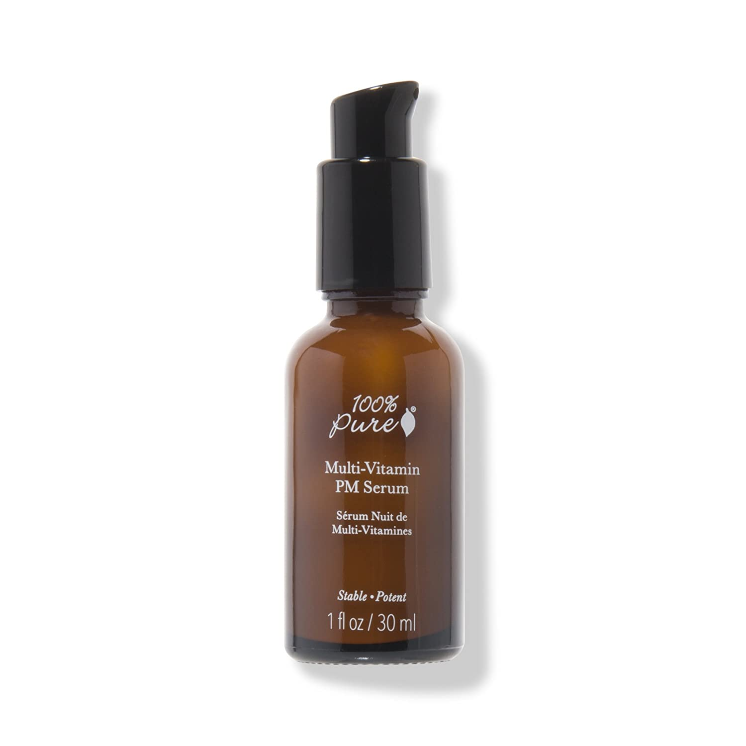 100% Pure Multi-Vitamin + Antioxidants Potent PM Serum, Prevents Lines and Wrinkles, Firms Skin, Boosts Collagen and Brightens