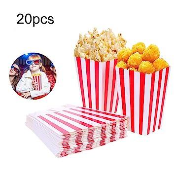 Amazon.com: 20 piezas película fiesta cajas de palomitas ...