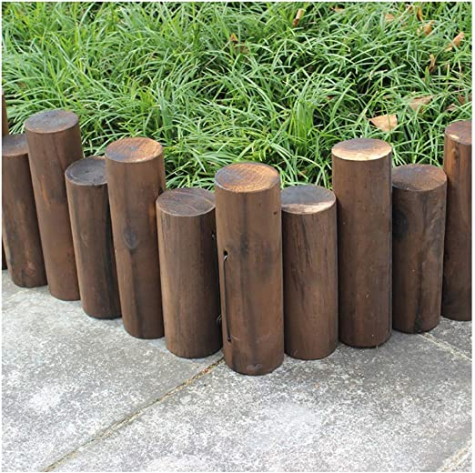 ZHANWEI Valla de jardín Bordura de jardín Decorativo Al Aire Libre Césped Flexible Cama De Flores Fronteras De Madera, 5 Cm De Diámetro, 5 Tamaños (Color : Brown, Size : 90x25/30cm): Amazon.es: Jardín