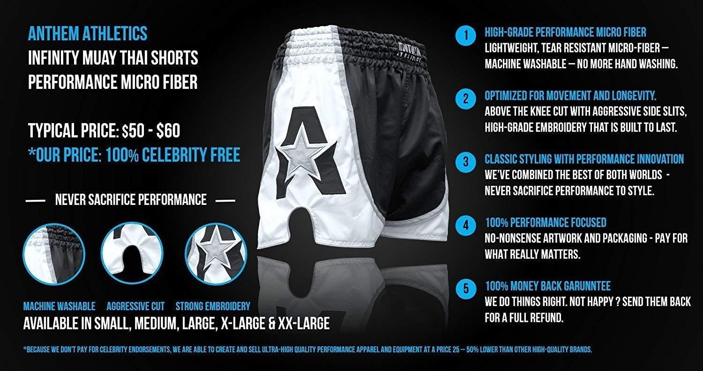 Thai Boxing Kickboxing Anthem Athletics Infinity Muay Thai Shorts Striking 10+ Styles