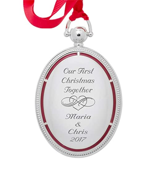 Personalized Silver Photo Locket Christmas Ornament Engraved Free - Amazon.com: Personalized Silver Photo Locket Christmas Ornament
