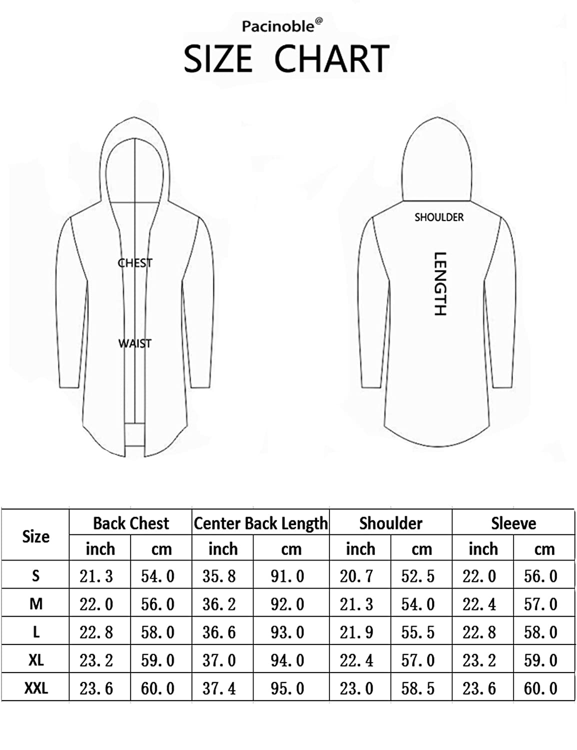 Pacinoble Mens Casual Cardigan Long Sleeve Lightweight Open Front Cotton Long Length Cardigan