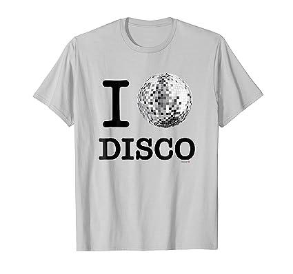 I Love Disco T Shirt Cool Mirror Ball Tee Shirt Herren Grosse Xl
