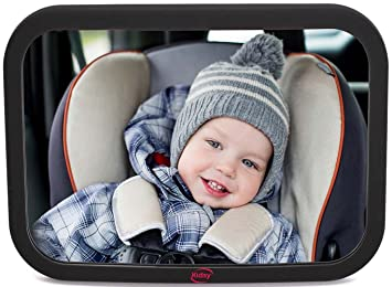 LARGE Rear View Baby Mirror 1 Best Car Accessory For Caring Parents With Cute Infants